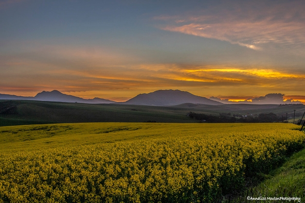 Sunset over the Overberg…